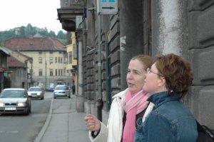 con Kanita a Sarajevo